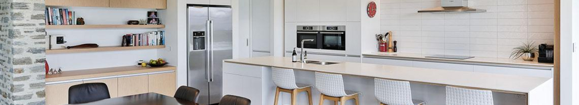 Light, bright kitchen designed by Nigel Molloy Joinery