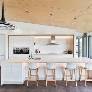 Minimalist Large Galley Shaped Kitchen by Nigel Molloy Joinery LTD