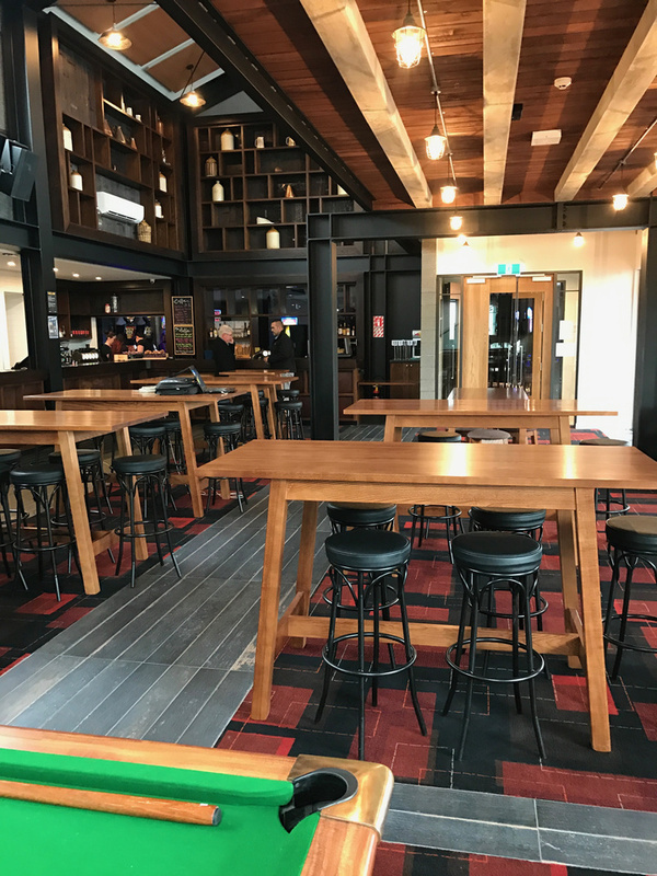 Joinery features in the main bar